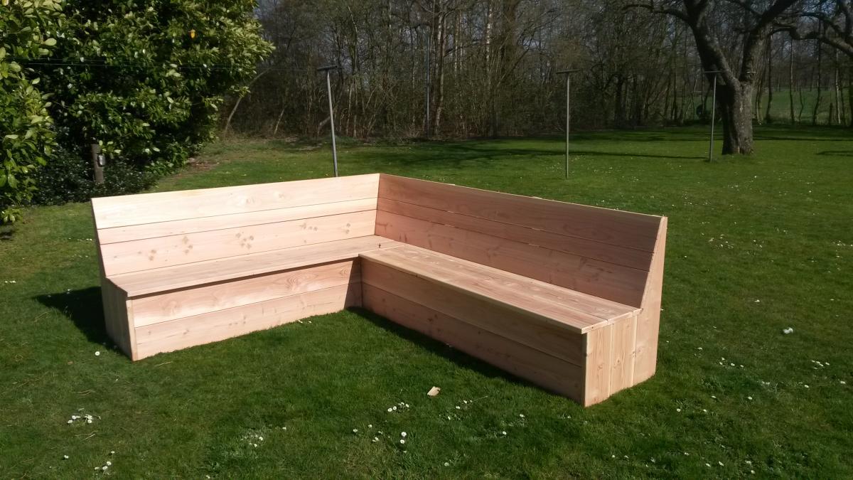 Hoekbank Tuin Hout : Hoekbank hout design